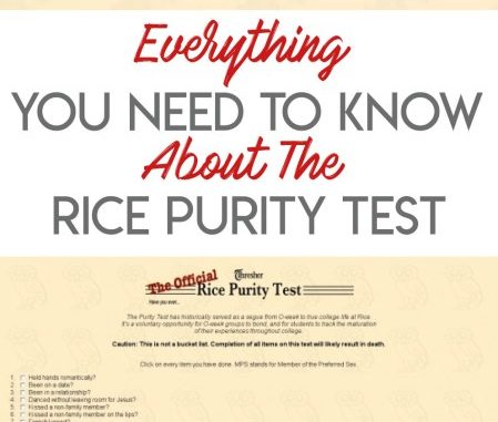 TikTok: Rice Purity Test Score Meaning Explained, What Does The Trend Actually Mean?